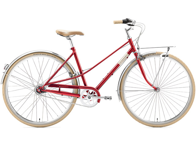 Creme Caferacer Uno 7-speed Damer, red